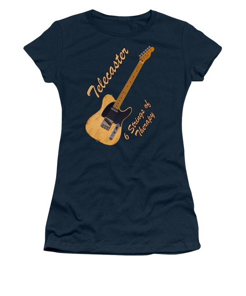 Telecaster Therapy T-shirt Women's T-Shirt (Junior Cut) by WB Johnston