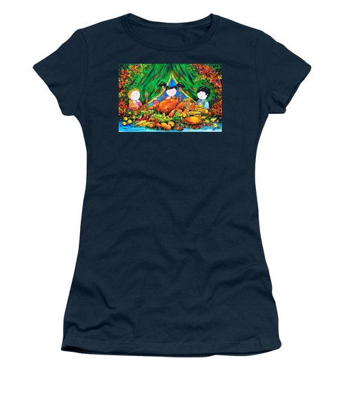 Thanksgiving Day Women's T-Shirt (Junior Cut) by Zaira Dzhaubaeva