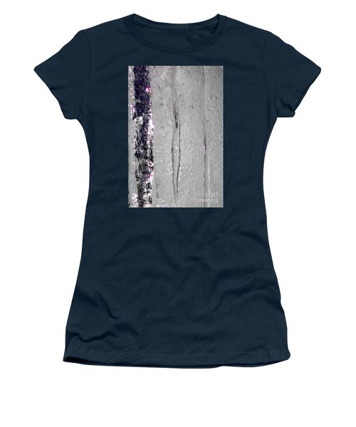 The Wall Of Amethyst Ice  Women's T-Shirt (Athletic Fit)