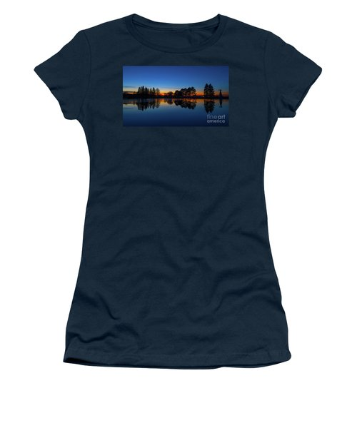 Women's T-Shirt (Junior Cut) featuring the photograph The Blue Hour.. by Nina Stavlund
