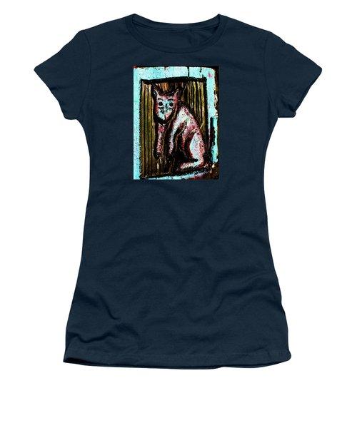 The Cat Women's T-Shirt (Junior Cut) by John King