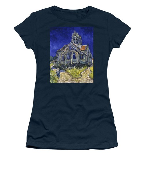 Women's T-Shirt featuring the painting The Church At Auvers by Van Gogh