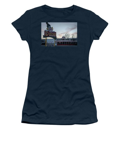 Women's T-Shirt (Junior Cut) featuring the photograph The Circus Drive In Wall Township Nj by Terry DeLuco