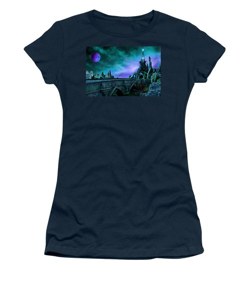 Women's T-Shirt (Junior Cut) featuring the painting The Crystal Palace - Nightwish by James Christopher Hill
