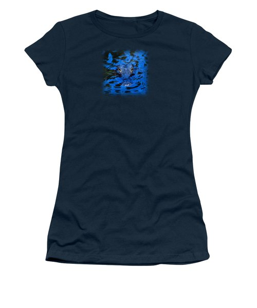 The Eyes Of A Florida Alligator Women's T-Shirt (Athletic Fit)