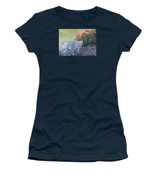 A Feral Cloud Women's T-Shirt (Junior Cut) by Connie Schaertl