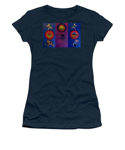Women's T-Shirt (Junior Cut) featuring the painting The Fruit Machine Stops II by Charles Stuart