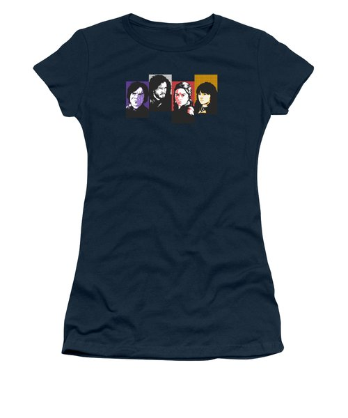 The Game Of Thrones My Favourite Characters 80s Style Jon Snow Khaleesi Tyrion Lannister Bran Stark Women's T-Shirt (Athletic Fit)