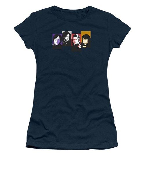The Game Of Thrones My Favourite Characters 80s Style Jon Snow Khaleesi Tyrion Lannister Bran Stark Women's T-Shirt (Junior Cut)