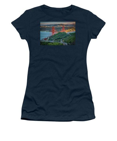 The Golden Gate At Sunset Women's T-Shirt