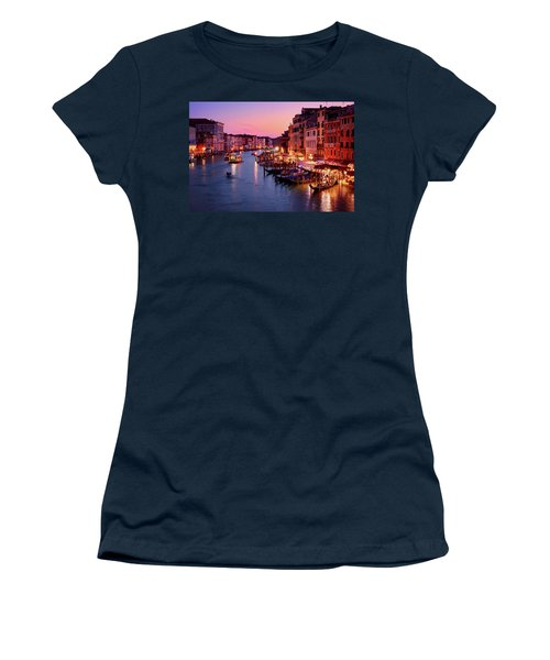 The Blue Hour From The Rialto Bridge In Venice, Italy Women's T-Shirt