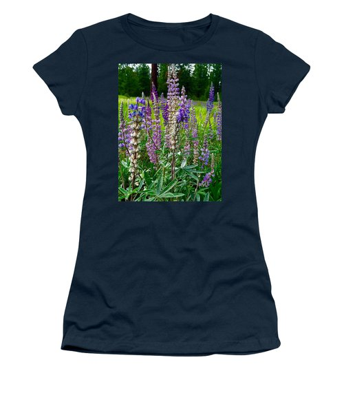 The Lupine Crowd Women's T-Shirt (Junior Cut) by Jennifer Lake
