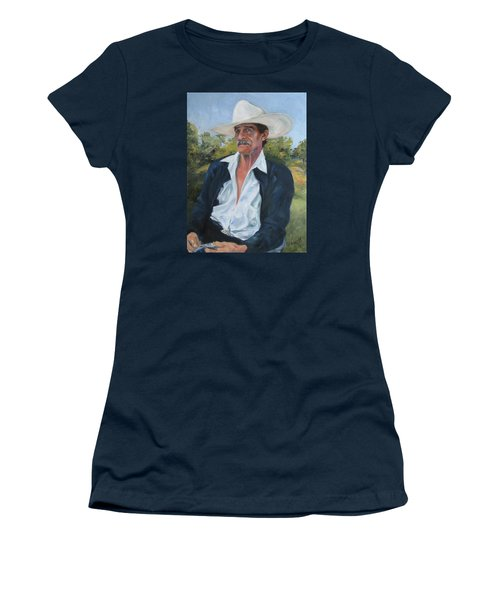The Man From The Valley Women's T-Shirt (Junior Cut) by Connie Schaertl