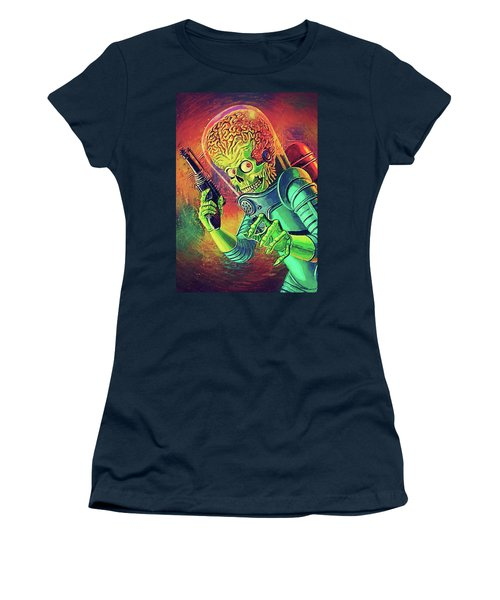 The Martian - Mars Attacks Women's T-Shirt (Junior Cut) by Taylan Apukovska