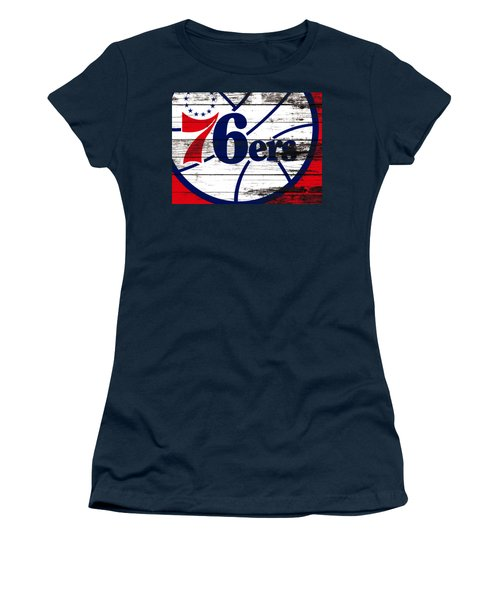 The Philadelphia 76ers 3e       Women's T-Shirt (Junior Cut) by Brian Reaves