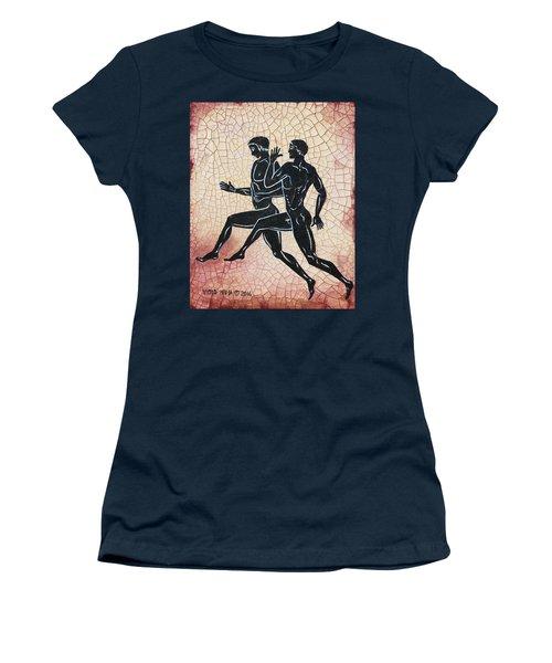 The Runners Women's T-Shirt (Junior Cut) by Victor Minca