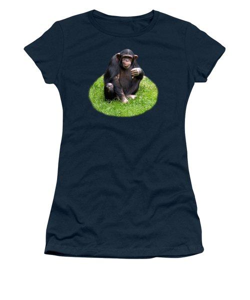 The Smiling Chimp Transparent Women's T-Shirt (Athletic Fit)