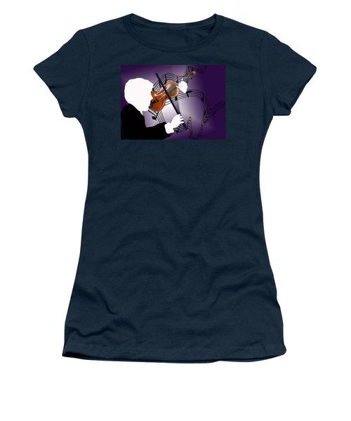 Women's T-Shirt (Junior Cut) featuring the sculpture The Soloist by Steve Karol