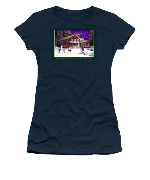The South Woodstock Country Store Women's T-Shirt (Junior Cut) by Nancy Griswold