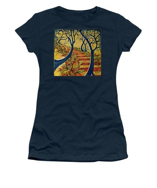 The Stairs To Now Women's T-Shirt (Junior Cut) by Anna Ewa Miarczynska