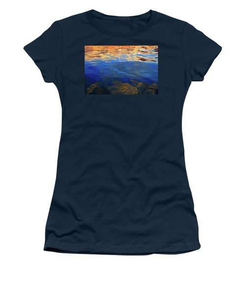 The Surface Is A Reflection  Women's T-Shirt (Junior Cut) by Lyle Crump