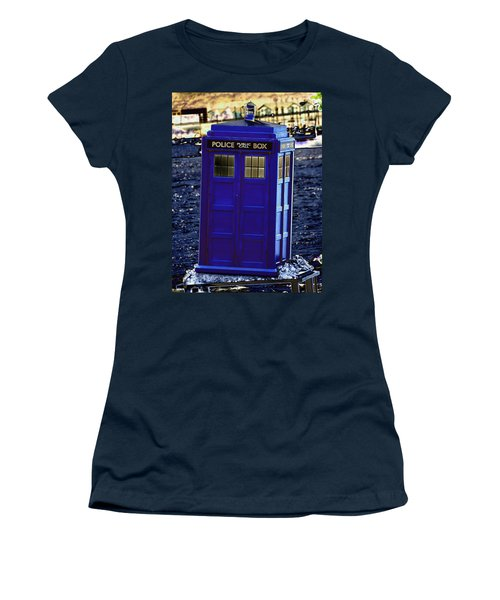 The Tardis Women's T-Shirt (Athletic Fit)