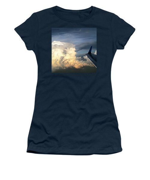The #viewfrommywindow Of My #airplane Women's T-Shirt