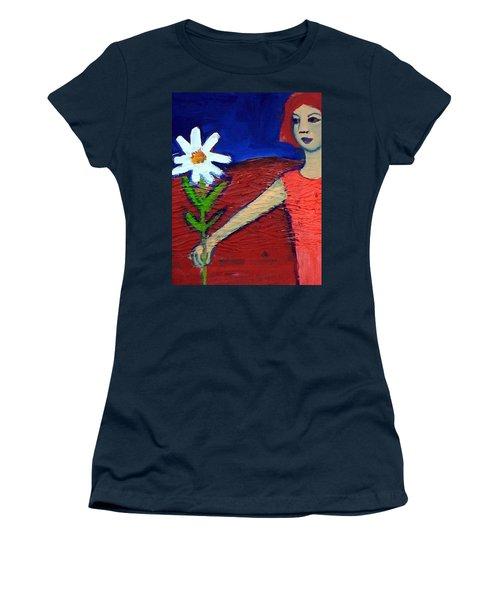 The White Flower Women's T-Shirt (Junior Cut) by Winsome Gunning