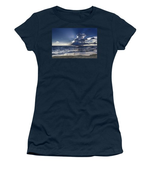 Women's T-Shirt (Athletic Fit) featuring the photograph Three Ibises Before The Storm by Steven Sparks