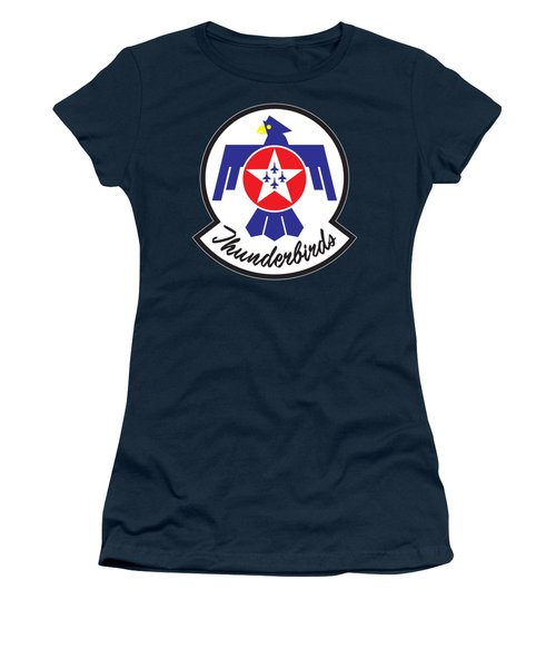 Thunderbirds Logo Women's T-Shirt (Athletic Fit)