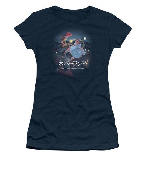 To Neverland Women's T-Shirt (Junior Cut) by Saqman