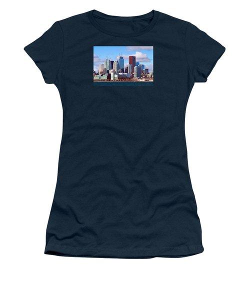 Women's T-Shirt (Junior Cut) featuring the photograph Toronto Core by Valentino Visentini