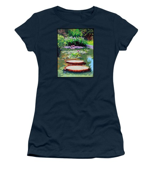 Tower Grove Park Women's T-Shirt (Junior Cut) by John Lautermilch