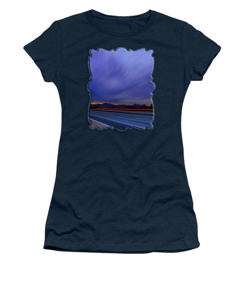 Traveling Sunset Blues V52 Women's T-Shirt