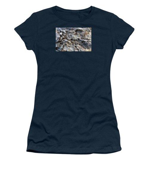 Women's T-Shirt (Junior Cut) featuring the photograph Tree Bark 1 by Jean Bernard Roussilhe