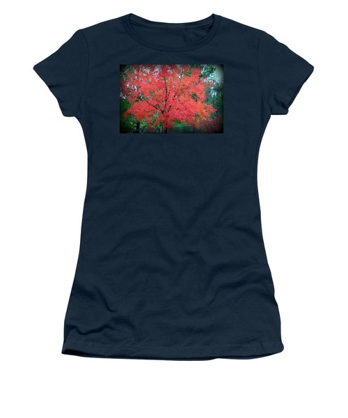Women's T-Shirt (Athletic Fit) featuring the photograph Tree On Fire by AJ Schibig