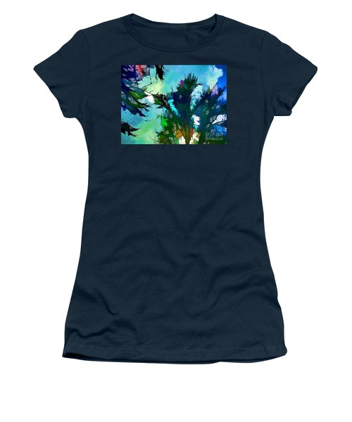 Tree Spirit Abstract Digital Painting Women's T-Shirt