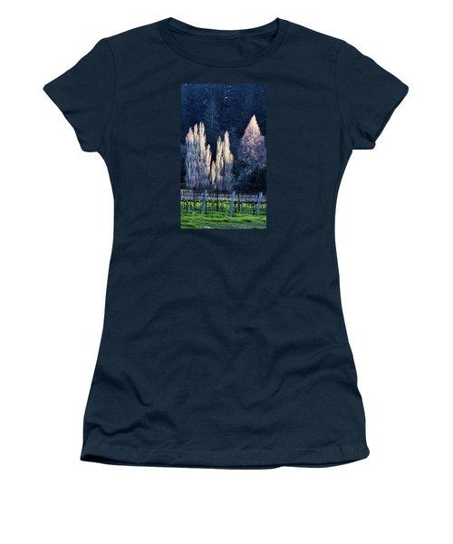 Trees In Fall Napa Valley Women's T-Shirt (Junior Cut) by Josephine Buschman