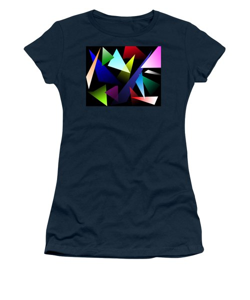 Triangles Women's T-Shirt (Athletic Fit)