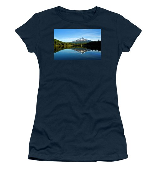 Trillium Lake Mt Hood Fall Women's T-Shirt (Athletic Fit)
