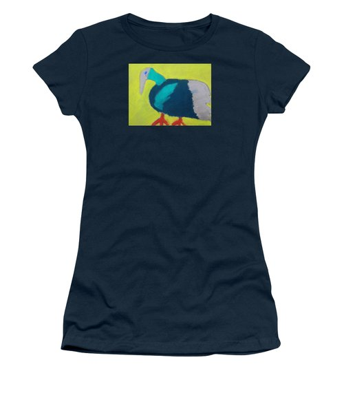Women's T-Shirt (Junior Cut) featuring the pastel Tropical Bird by Artists With Autism Inc