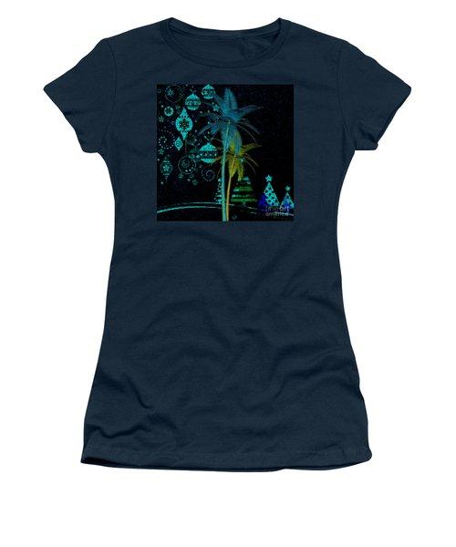 Tropical Holiday Blue Women's T-Shirt