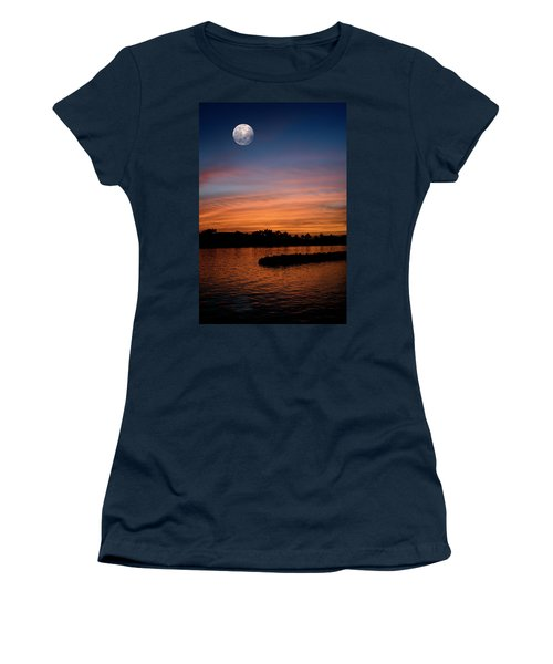 Women's T-Shirt (Junior Cut) featuring the photograph Tropical Moon by Laura Fasulo