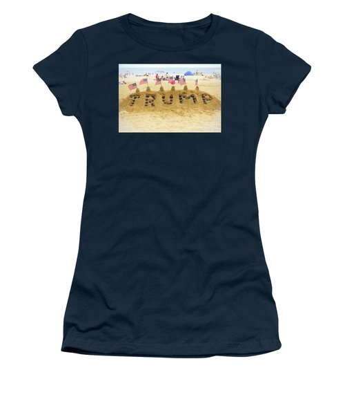 Women's T-Shirt (Junior Cut) featuring the photograph Trump - Sandcastle by Colleen Kammerer