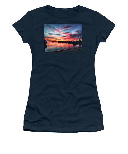 Tugboat Sirius At Sunrise Women's T-Shirt (Athletic Fit)