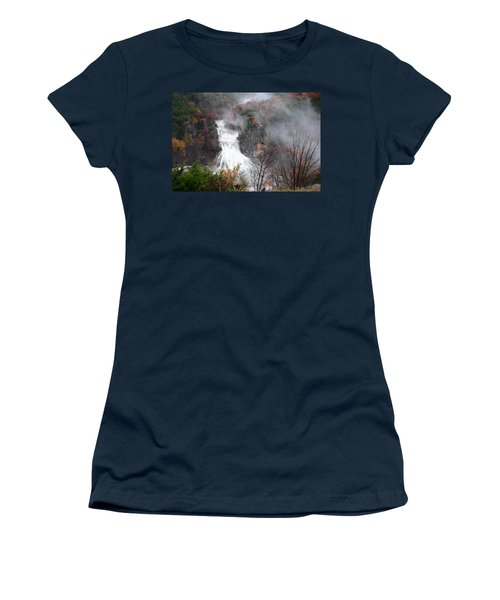 Turner Falls And Steam Women's T-Shirt (Athletic Fit)