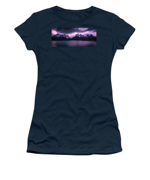 Twilight Over The Lake Women's T-Shirt (Junior Cut) by Andrew Matwijec