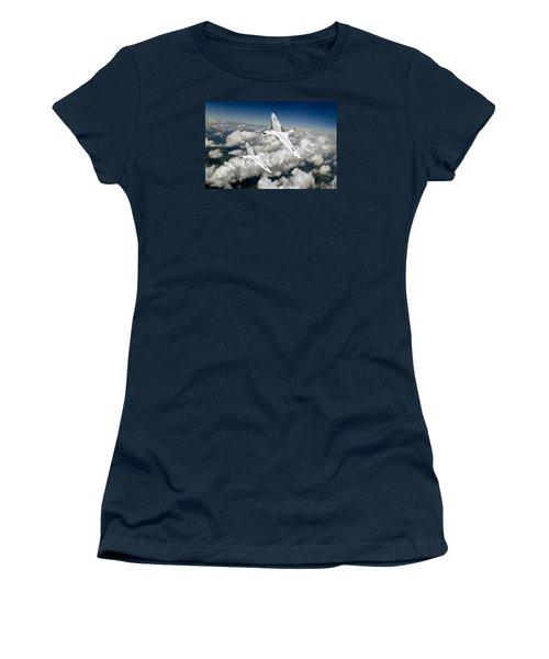 Two Avro Vulcan B1 Nuclear Bombers Women's T-Shirt