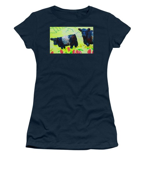 Two Belted Galloway Cows Looking At You Women's T-Shirt