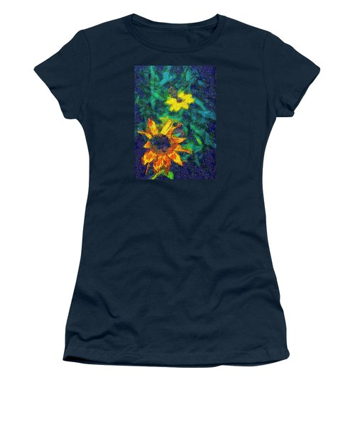 Two Flowers Women's T-Shirt (Junior Cut) by Carlee Ojeda